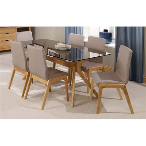 glass top dining table sets patio solid oak tinted glass top dining table and 6 dining