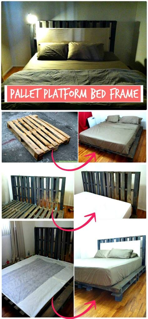 diy pallet bed frame ideas  step  step plans
