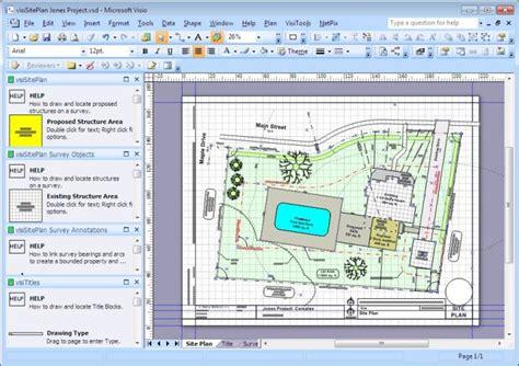 visisiteplan set visio app  surveys  site plans