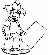 Clown Krusty Coloring Simpsons Pages Drawing Simpson Sideshow Drawings Template Printable Getdrawings Popular Everyone sketch template