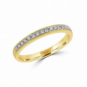 18ct gold 018ct round diamond wedding eternity ring With 18ct gold wedding rings with diamonds