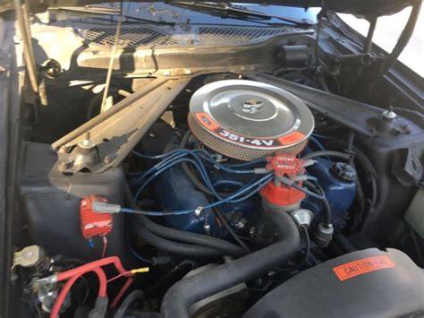 Black 1971 Ford Mustang Mach 1 351 Cleveland 4v V8 Engine