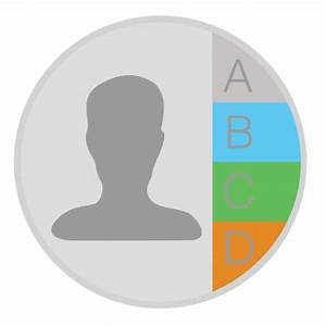 Contacts Icon | Mac Stock Apps Style 2 Iconset | Hamza Saleem
