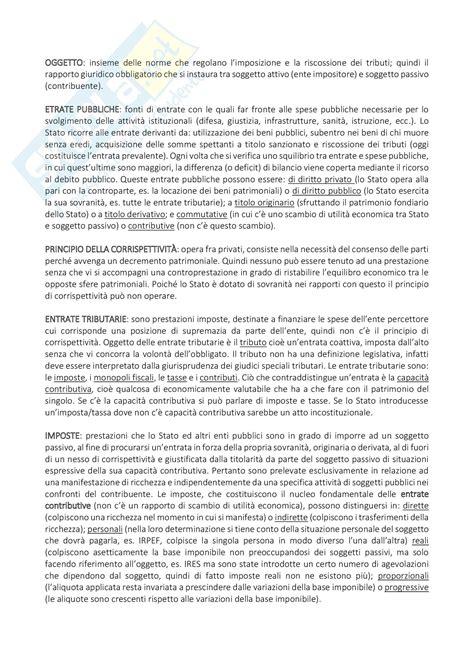 dispensa di diritto tributario parte generale appunti di diritto tributario