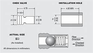 2 5mm Check Valve  U2013 Ceramic Ball For Plastic Installation