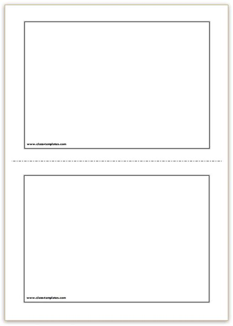 printable flash cards template