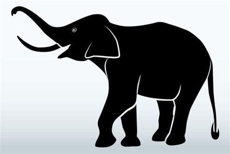 elephant silhouettes  premium templates