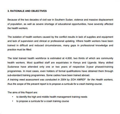 sample training  assessment   format