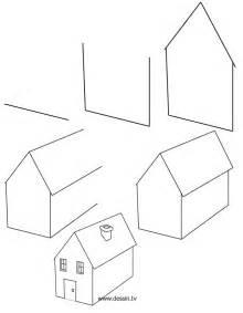 How to Draw a 3D House Step by Step