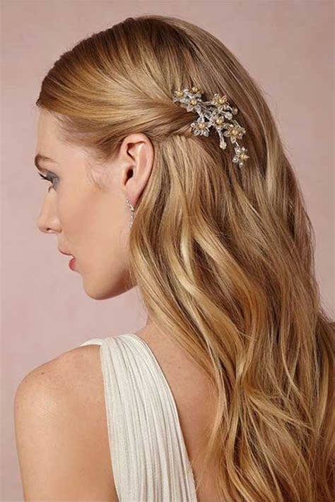 straight wedding hair inspirations for your big day