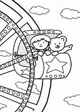 Coloring Carnival Pages Wheel Fair Ferris Rides State Food Watching Come Friends Printable Print Getcolorings Pa Popular sketch template