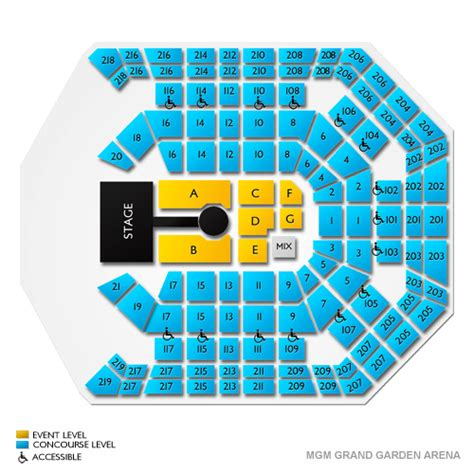 mgm grand garden arena seating mgm grand garden arena seating chart mgm grand garden