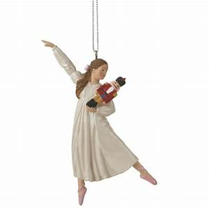Clara Ballet Dancer Holding Nutcracker Christmas Ornament