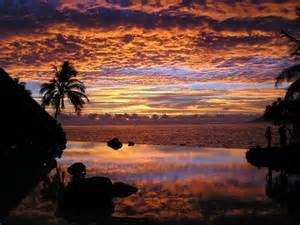 Sunset Papeete Tahiti