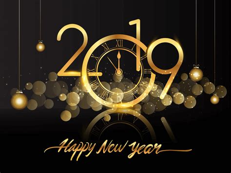 Happy New Year 2019 Clock Fireworks Hd Wallpapers