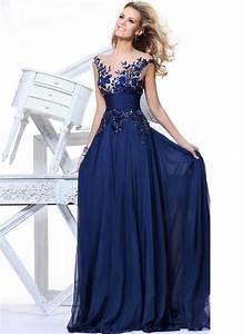 Tarik Ediz Prom Cheap Royal Blue Lace Sexy Evening Dresses ...