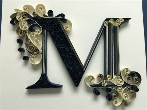 monogram quilling letter   amy creasy quilling letters quilling quilling designs