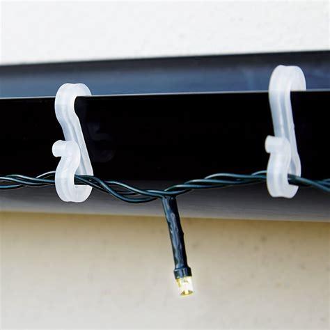 weatherproof plastic roof mini gutter s clip hooks