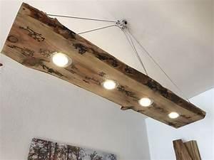 Holz Lampen Decke : led decken holz lampe rustikal 120cm 4x 7w massivholz lichtenberg design m bel wohnen ~ A.2002-acura-tl-radio.info Haus und Dekorationen