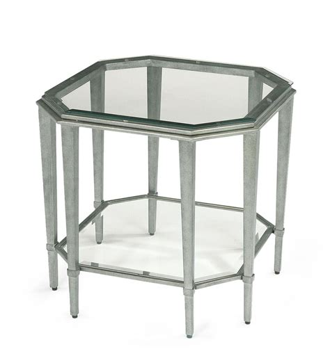 flexsteel prism contemporary glass lamp table darvin