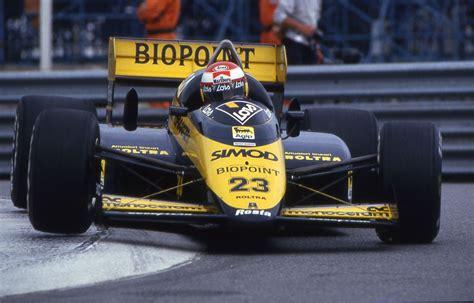 "Adrián campos suñer was a formula one driver who drove for minardi in 1987 and 1988. itsawheelthing: "" Adrian Campos, Lois Minardi-Motori Moderni M187, 1987 Monaco Grand Prix ..."