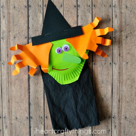 Paper Bag Halloween Witch Craft For Kids  I Heart Crafty