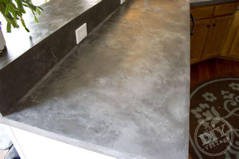 faux concrete countertops kitchen countertop makeover the diy village