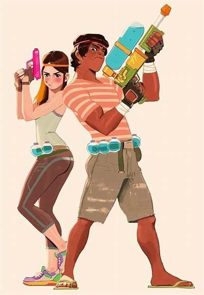 Drawing Couples Woonyoung Character Poses Cartoon Fun