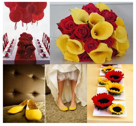 red  yellow wedding decoration weddings   french