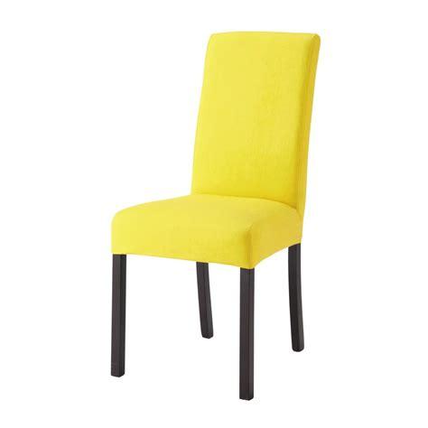 housse de chaise en coton jaune margaux maisons du monde