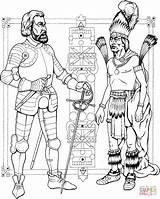 Coloring Indian Colorear Dibujo Knight Kleurplaat Imagenes Aztecas Kolorowanki Supercoloring Caballeros Malinche Dibujos Cortes Ridder Indios Azteca Printable Prinses Drawing sketch template