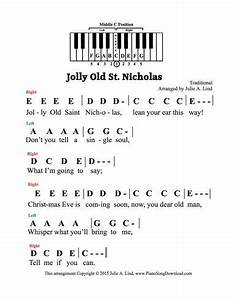jolly old st nicholas pre staff with letters a great With christmas letters musical