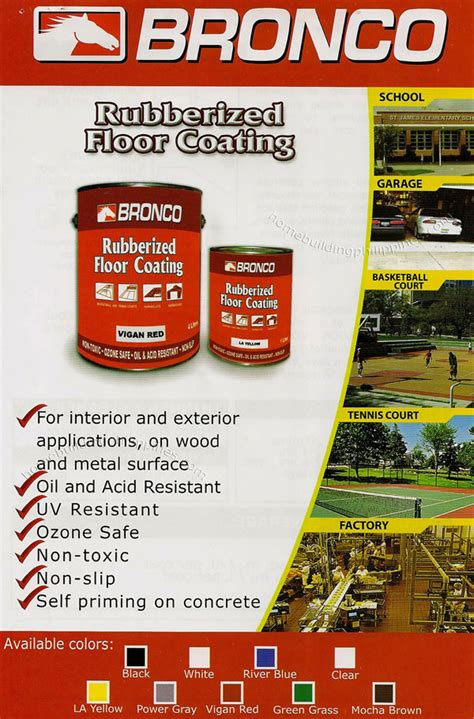 best rubberized deck coating bronco rubberized floor coating philippines