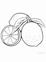 Lime Coloring Printable Lemon Fruits Gaddynippercrayons Sheets Citrus sketch template