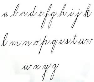 Calligraphy Lowercase Cursive Letters