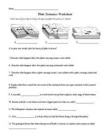 plate tectonics worksheet answers lesupercoin printables