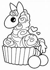 Llama Coloring Pages Cupcake Kawaii Alpaca Drawing Yampuff Lineart Clipart Colouring Para Drawings Cupcakes Colorir Printable Llamas Desenho Sheets Deviantart sketch template