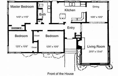 Plans Floor Bedroom Simple Homes Houses Plan