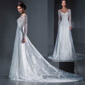 aliexpresscom buy best sellers bridal gowns simple lace With long sleeve a line wedding dress