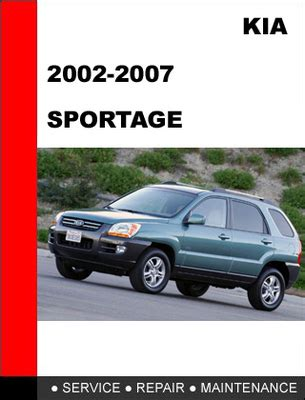 manual repair autos 1996 kia sportage parking system 2002 2007 kia sportage factory service repair manual download man