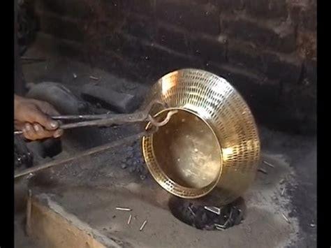 traditional brass  copper craft  utensil making