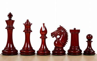 Knight Chess America Pieces Redwood