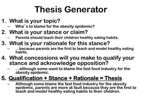 thesis statement generator helpful papers