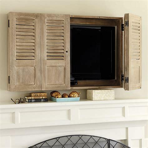 wall mount tv cabinet shutter tv wall cabinet ballard designs