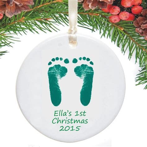 footprints first christmas tree decorations baby s 1st