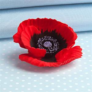 painted large poppy brooch by intentions