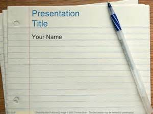 notebook paper  education powerpoint templates