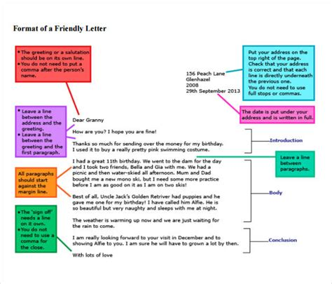 friendly letter writing format 49 friendly letter templates pdf doc free premium