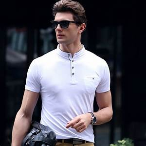 New Men Polo Shirt Men Business Casual Solid Male Short Sleeve Breathable Polo Shirts - Concept ...
