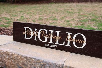 Sign Date Est 2ft Signs Personalized Wood